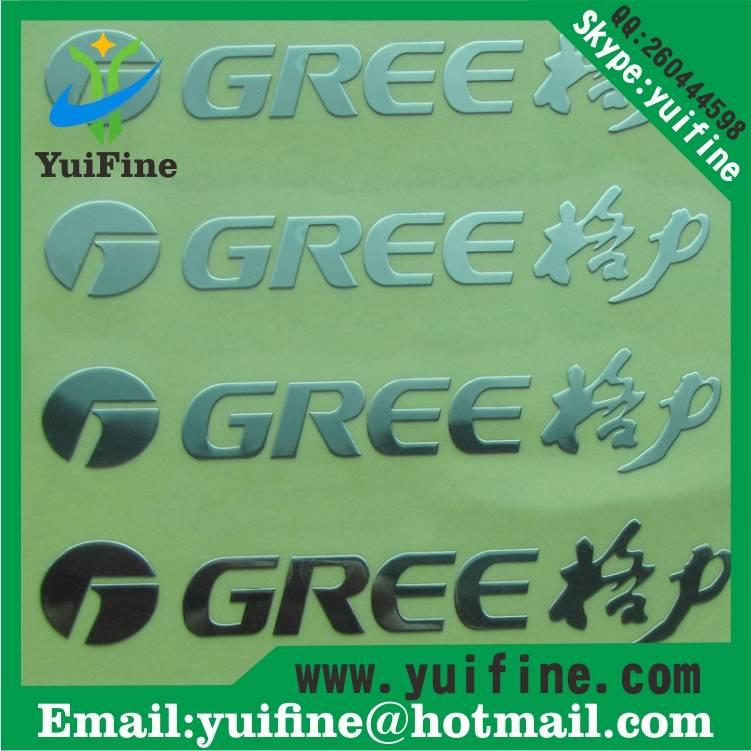 Customize Logo Electroformed Thin Metal label Name Plate Adhesive nickel sticker nameplate Metal tag