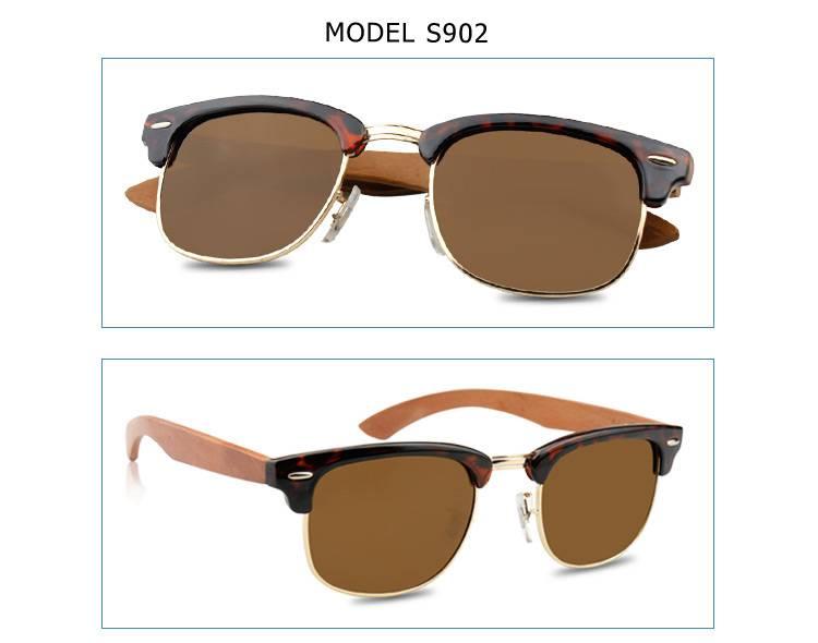 2015 New Fashion Cheap Polarized Wood Legs Sunglasses