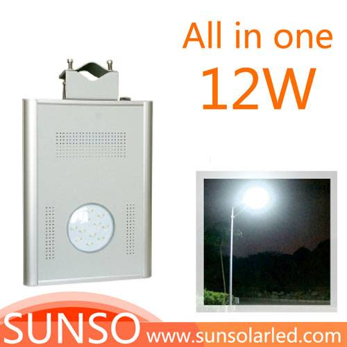 12W Integrated solar powered LED Wall mounted, Park, Villa, Village light with motion sensor functio