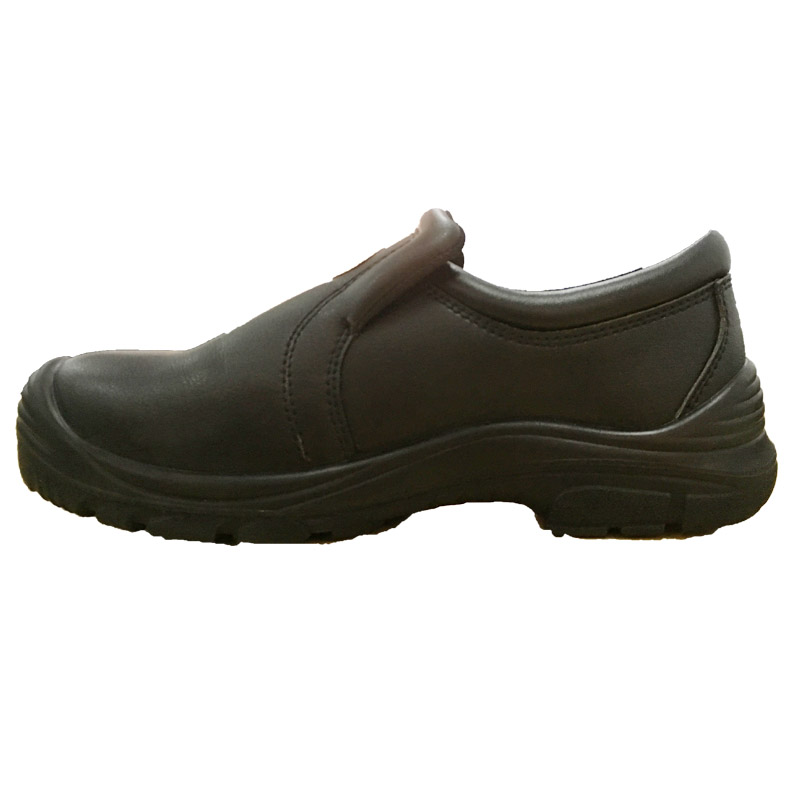 Waterproof Black Cow Leather Upper Abrasion Resistance Safety Shoes