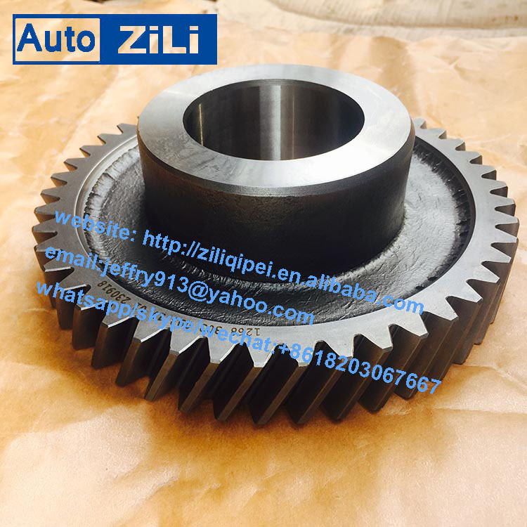 qijiang gearbox s6-90 transmission parts kinglong bus gear first gear 1268303093