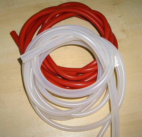 Food grade 100% virgin silicone hose with translucent, dark red