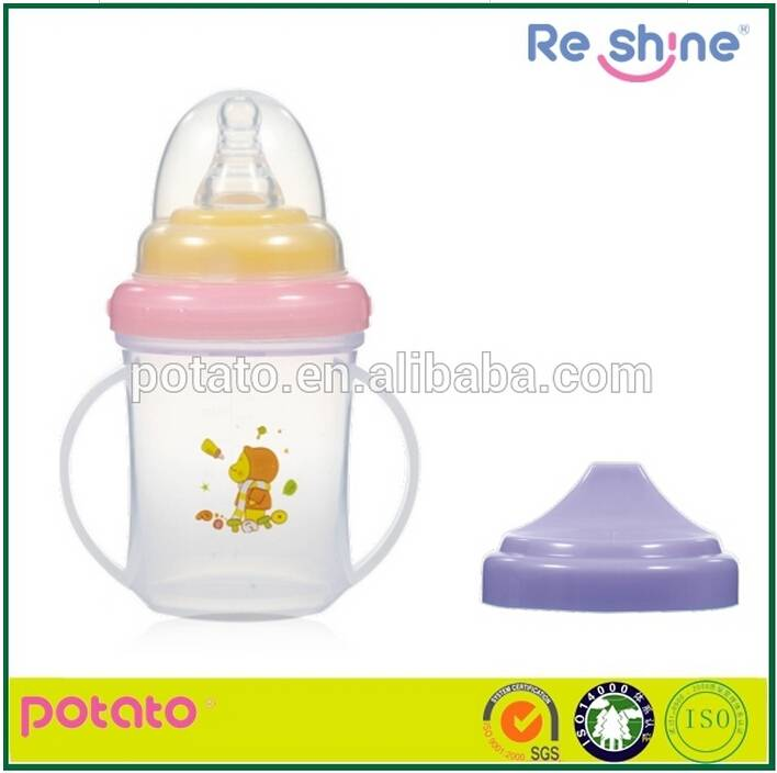 Double-use/ two handle /OEM/sippy cup/baby water cup/drinking cup