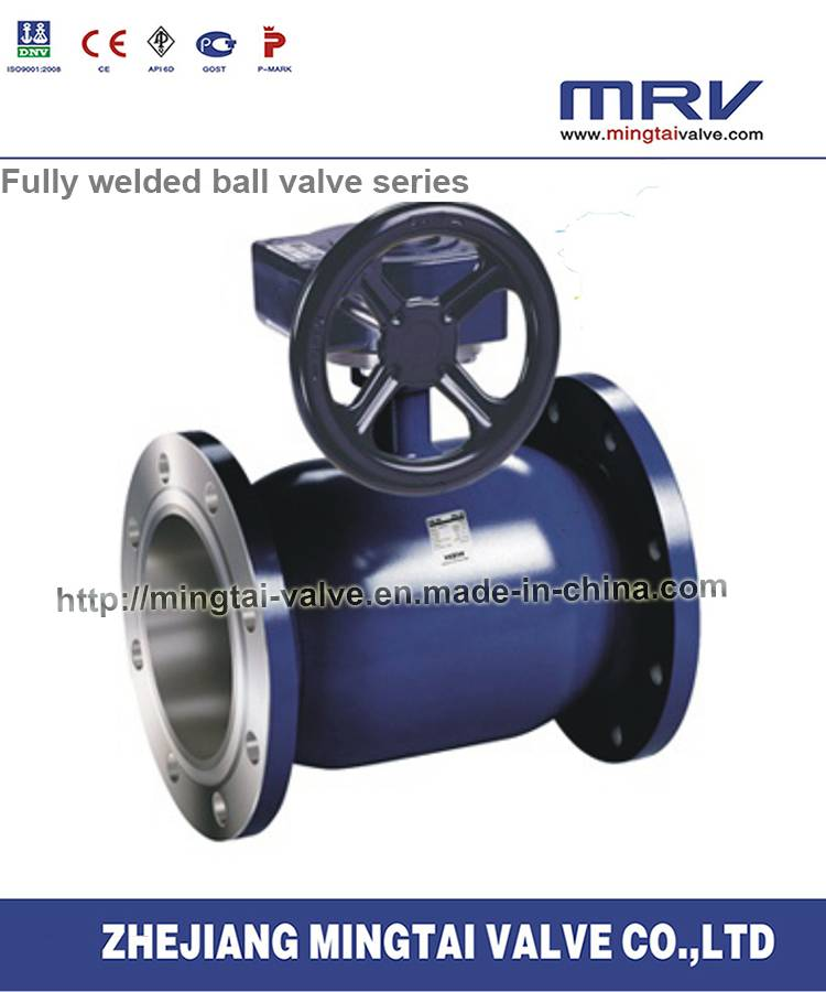 Regular Bore Flange Ends Ball Valve with Worm Gear