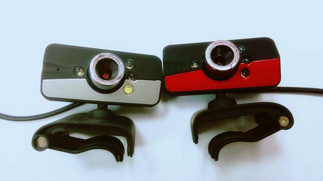 usb camera with built-in mic and 4 led and clip