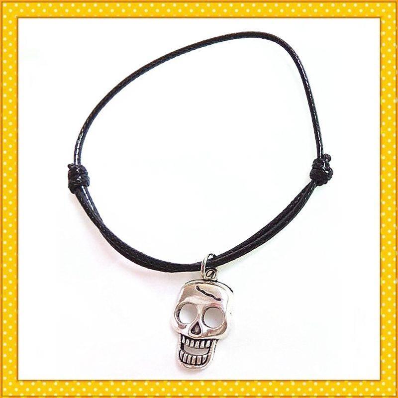 skull shape alloy charm bracelet