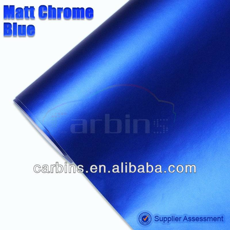 High Quality 1.52*20m Matte Blue Chrome Car Body Vinyl Wrap
