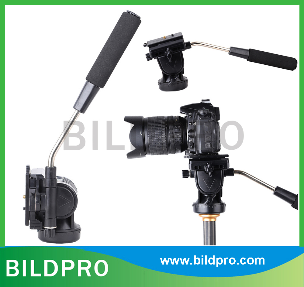 Factory Cheap Price 3 Way Fluid Head For Camera Tripod Video Stand ABS Plastic Tripod