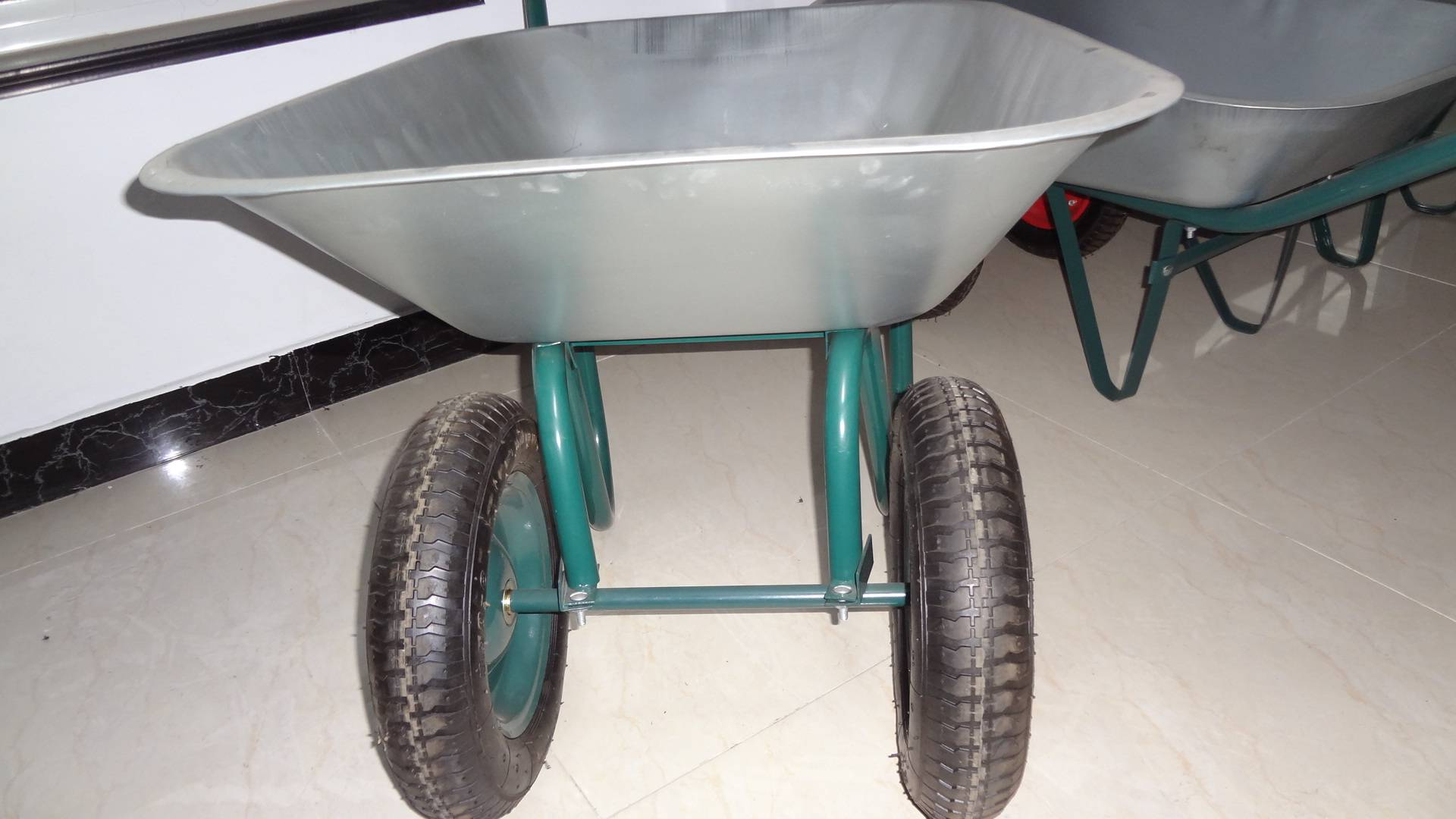 Pneumatic double wheels hand truck and wheelbarrow WB6410