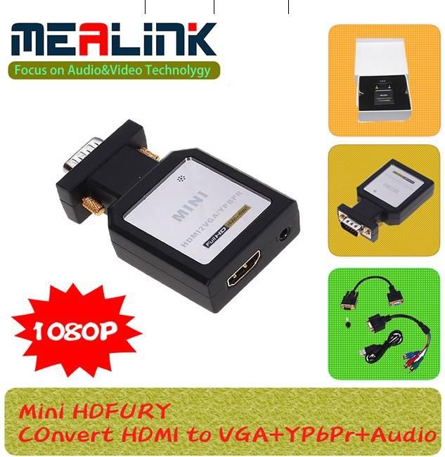Mini Hdfury HDMI to VGA+YPbPr+Audio Adapter