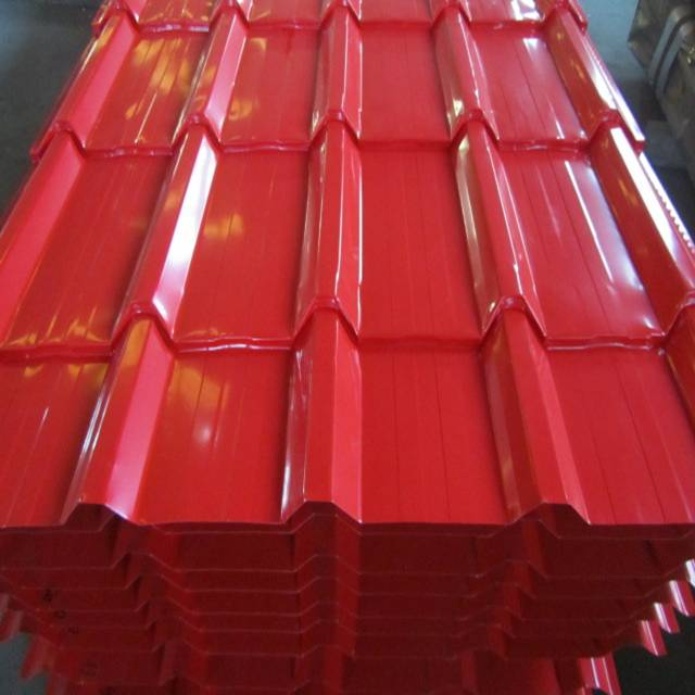 Free sample corrugated coated metal galvanized roof tile