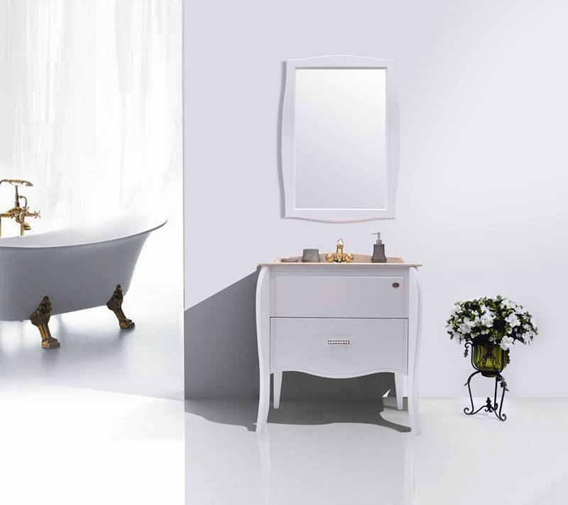 Godi Solid Wood Classic White Color Vanity TG-12