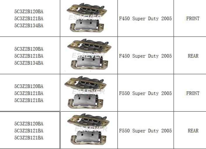 Ford, American Pickup,Chevrolet,Chrysler ,Hyundai ,Brake Caliper 5C3Z2B120BA 5C3Z2B121BA 5C3Z2B121BA