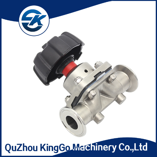 Sanitary stainless steel manual tri clamp diaphragm valve