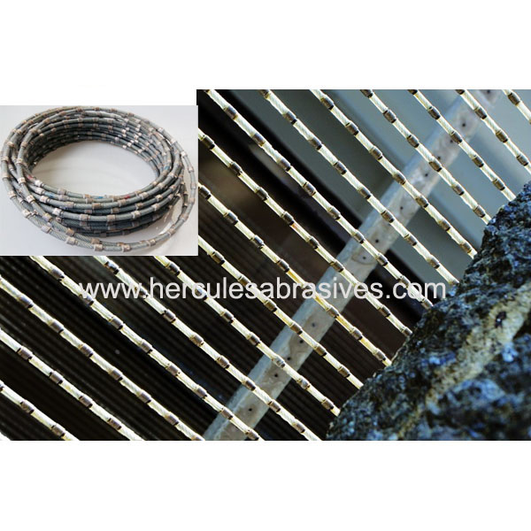 Multi wir e saw 6.3mm 7.3mm 8.3mm diamond wire for granite slabs cutting