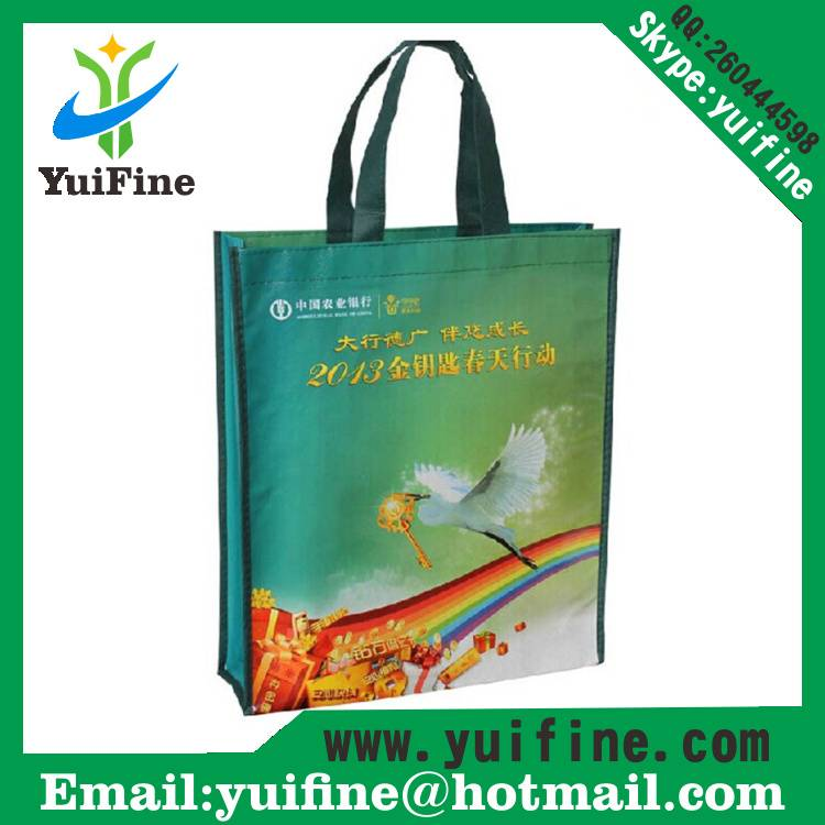 PP Non Woven Laminated Bag/Promotional Customized Logo Shopping Reusable Nonwoven Fabric Tote Bag