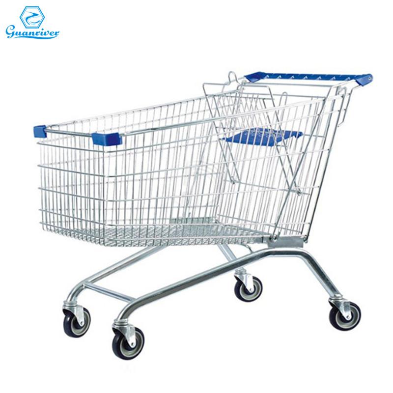 heavy duty Europe shopping trolley supermarket trolley for supermarket