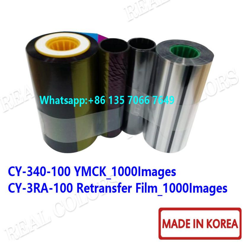 JVC CX7000 CY-340-100 YMCK & CY-3RA-100 Retransfer Film