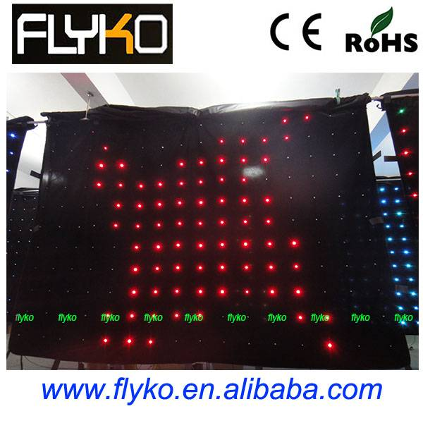 Indoor stage background p18 LED video curtain
