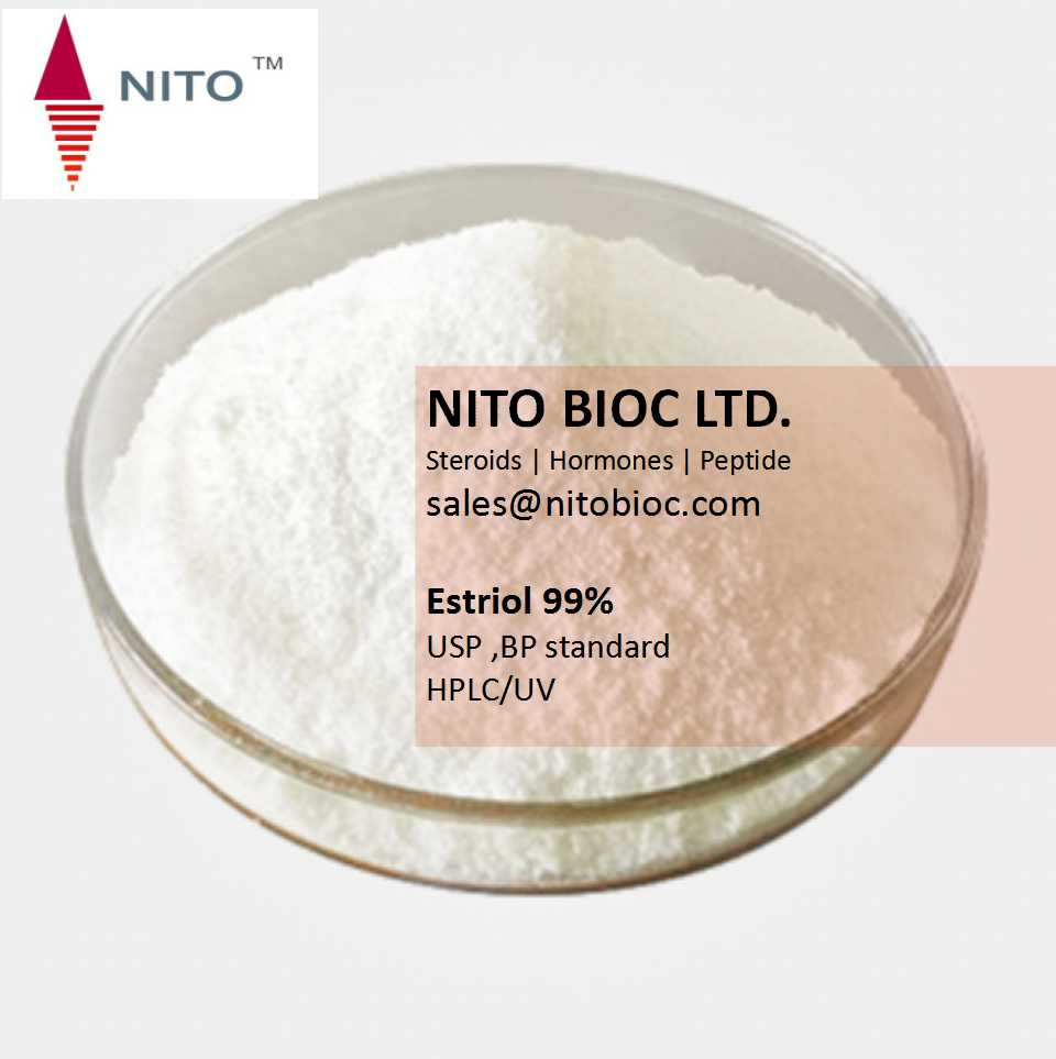 Factory quality control, hot sell strong steroid: Estriol with CAS NO:50-27-1