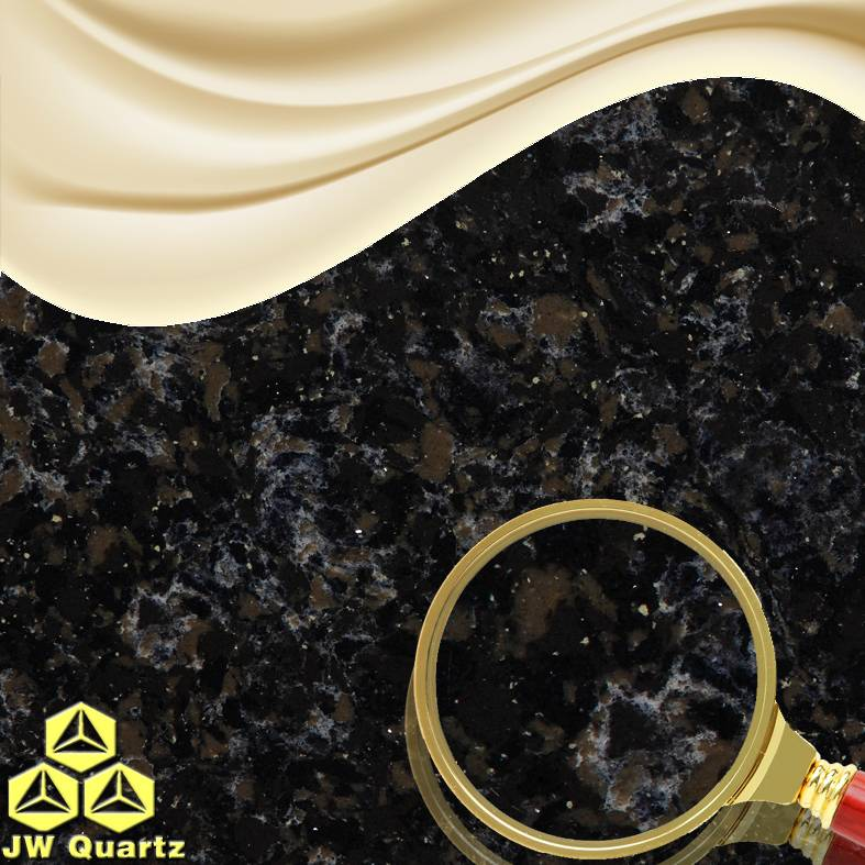 JW-6821 Night Pond-Natural beautiful Quartz Stone Slab for Decoration