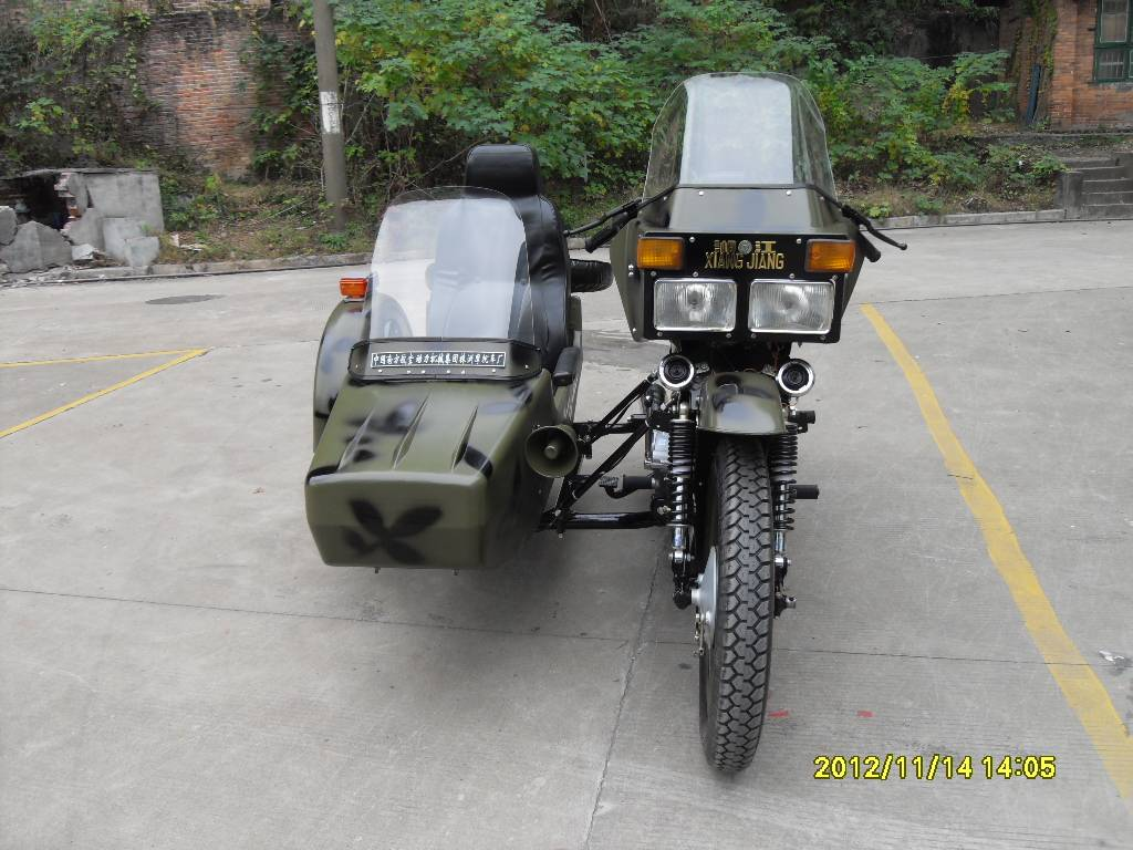 Police style Xiangjiang 250cc motorcycle sidecar