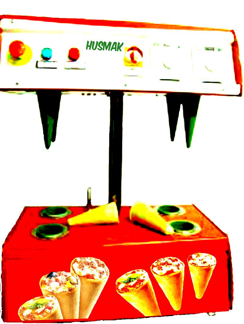 PIZZA CONE MACHINE 4 cones shaper