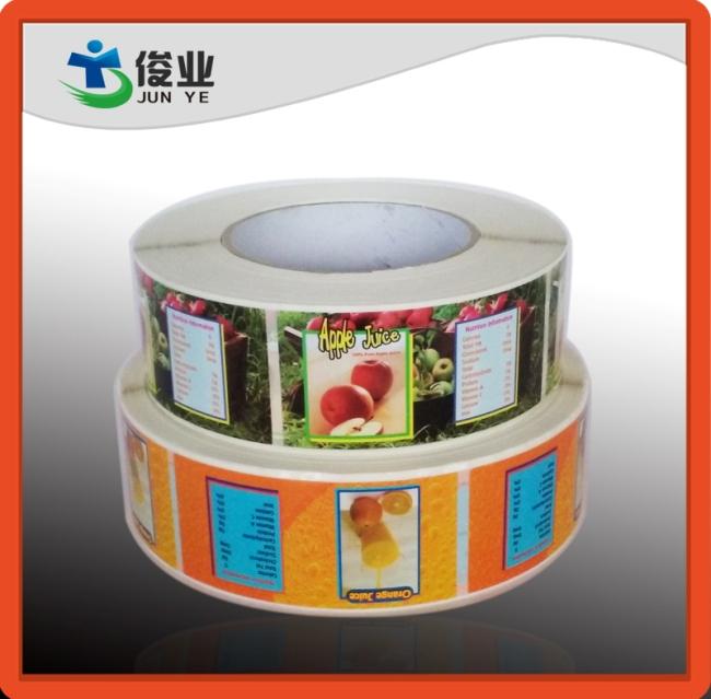Colorful Fruits Juice Labels