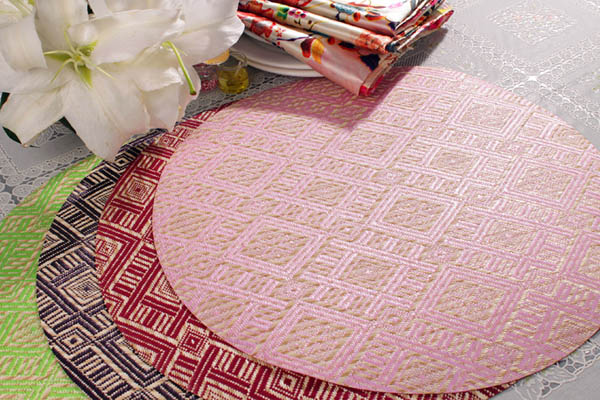 Polypropylene Placemats Patterns For Round Tables