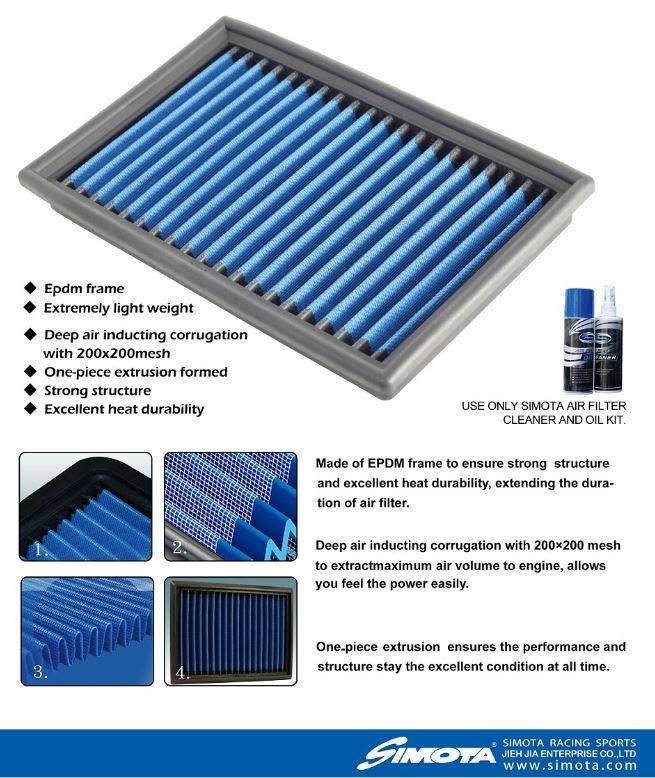 SIMOTA Stock Replacement Air Filter - High Flow Air Filter