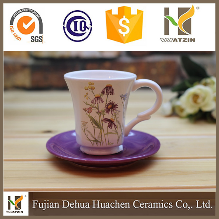 Wholesale Newest China Manufacture Ceramic Coffee Tea Cup And Saucers Sets