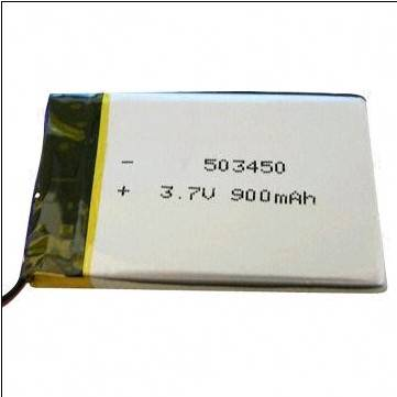 High-capacity 3.7V Li-polymer Battery Pack with 900mAh Capacity, Ideal for PDF/MP3 Players