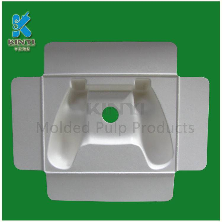 Environmental biodegradable paper pulp packaging trays for electronic