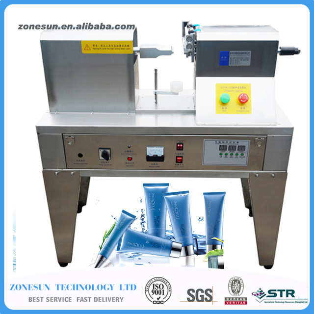 ZONESUN Plastic tube sealing machinery,Ultrasonic soft hose sealer equipment tools cream container