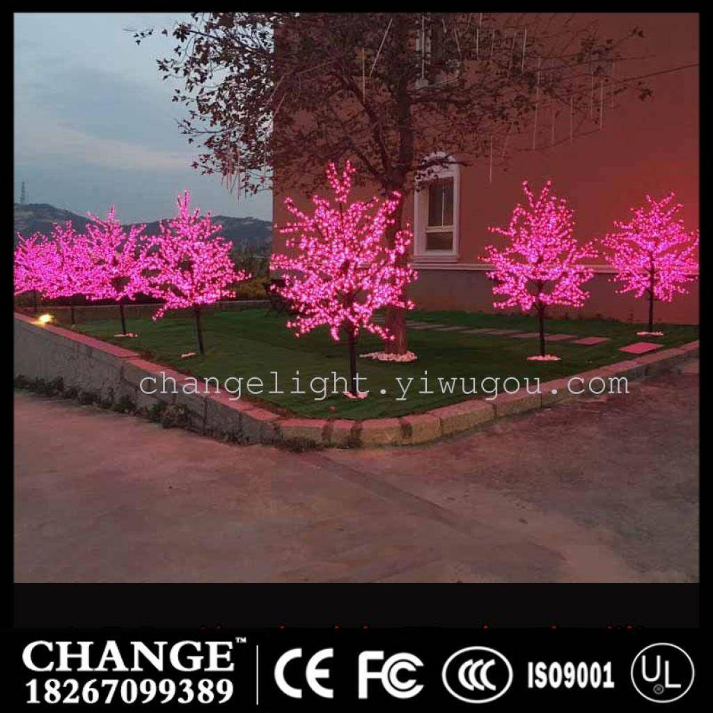 LED Crystal Cherry Blossom 1.5M Tree Lights Christmas New year Luminaria Decorative Tree Lamp Landsc