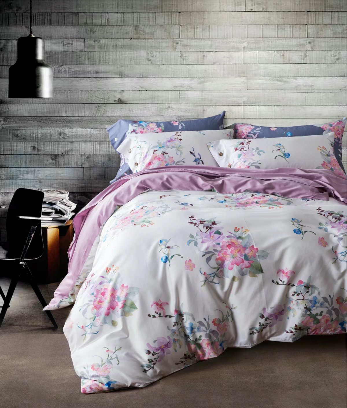 Premium 100% cotton reactive printing bedding set - CRM008