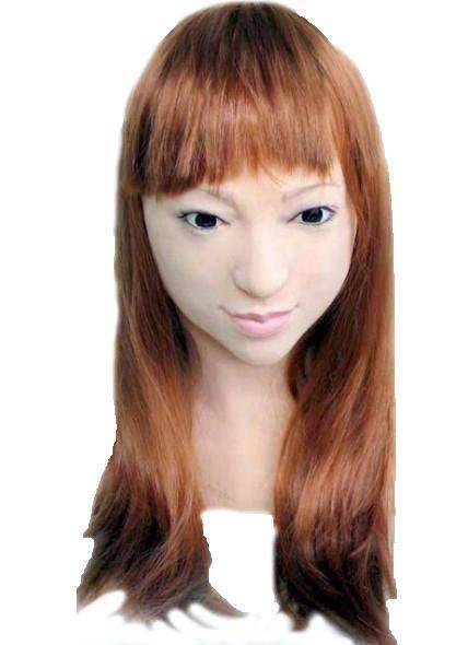 Realistic latex mask