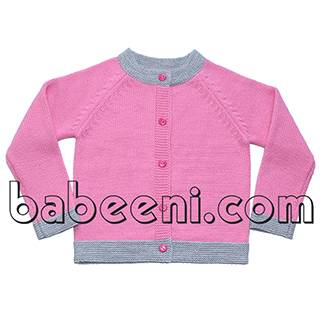 Sweet pink sweater for little girl - BB507