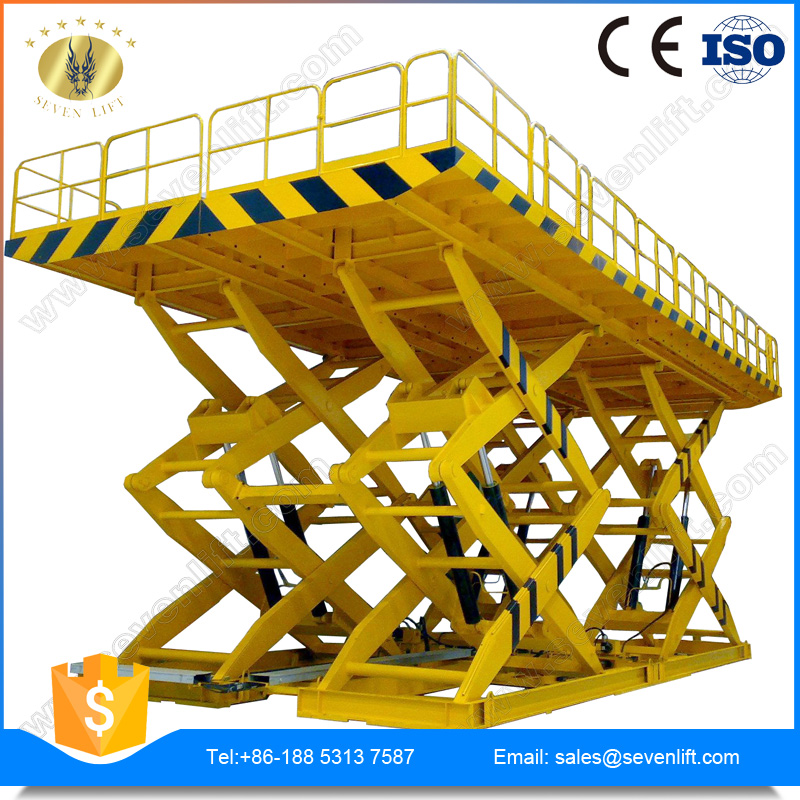 7LSJG Shandong SevenLift warehouse use hydraulic scissor cargo lift table