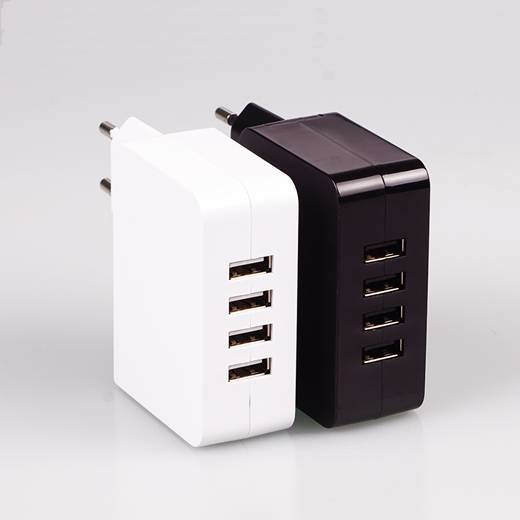 Universal 4.9A 4 usb Port Home and Travel USB Charger for iPhone 6
