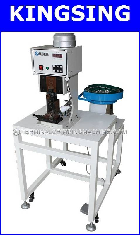 Automatic Loose Terminal Crimping Machine With Vibration Plate KS-1500V+ Free shipping by DHL air ex