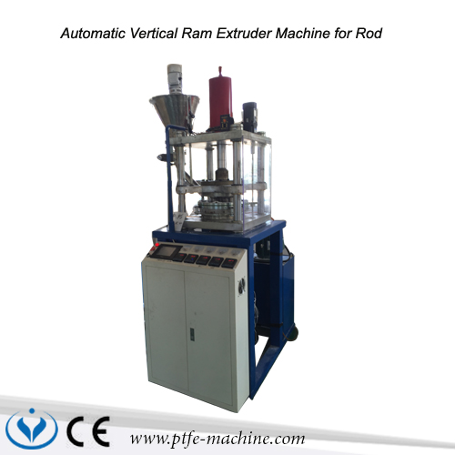 Automatic vertical ram extrusion machine for PTFE rod or teflon rod