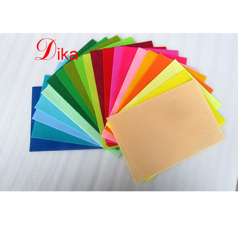 Eco-friendly DIY Colorful die cut different shapes and sizes polyester felt craft sheet