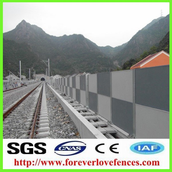 highway noise barrier for highway used