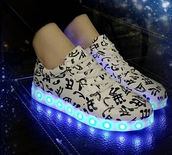 fashion design women comfortable adult lighting shoes led shoes