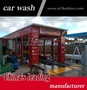 Haitian TX-380BF 9 brushes and  dryer car wash machine, hot sell auto tunnel car wash machine price