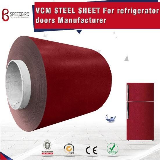 Color pcm vcm metal steel sheet for refrigerator doors