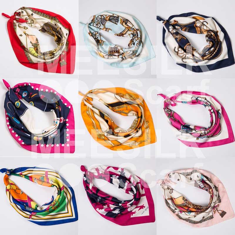 New Arrival Elegant High Class Scarves 100% Silk Scarf Hijab