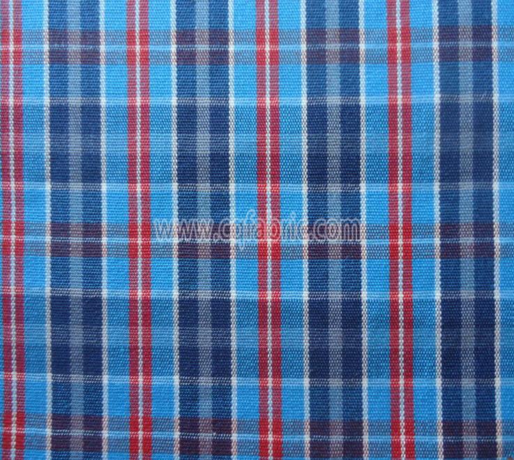 50D high density twill yarn dyed fabric CWC-044