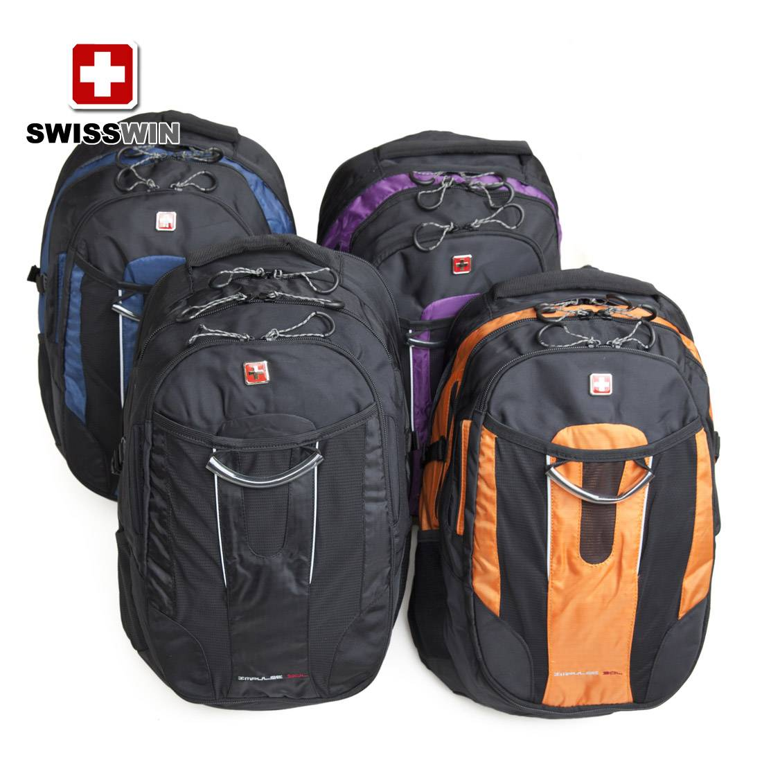 SWISSWIN Army Knife shoulder backpack men and women couple sports backpack 15-inch computer backpack